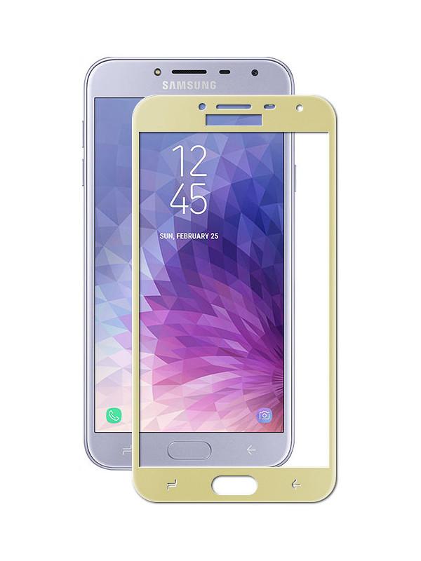 Аксессуар Защитное стекло Onext для Samsung Galaxy J4 2018 Full Glue с рамкой Gold 41692 все цены
