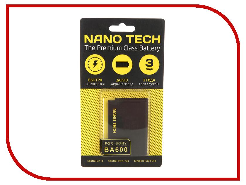 Аккумулятор Nano Tech (Аналог BA-600) 1290mAh для Sony Xperia U ST25i