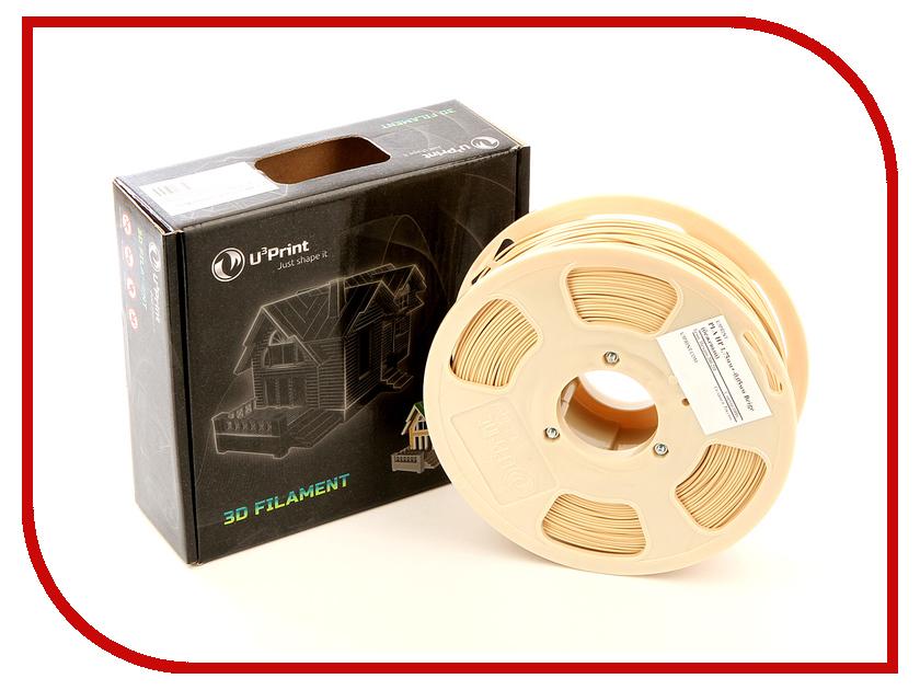 Аксессуар U3Print PLA-пластик HP 1.75mm 1kg Beige аксессуар u3print geek fil lament pla пластик 1 75mm ultramarine
