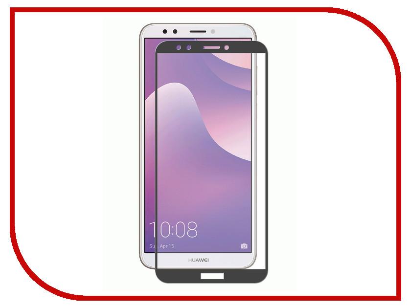 Аксессуар Противоударное стекло для Huawei Y7 Prime 2018 Innovation 2D Black 12115 huawei y7 pro 2018 4g phablet global version