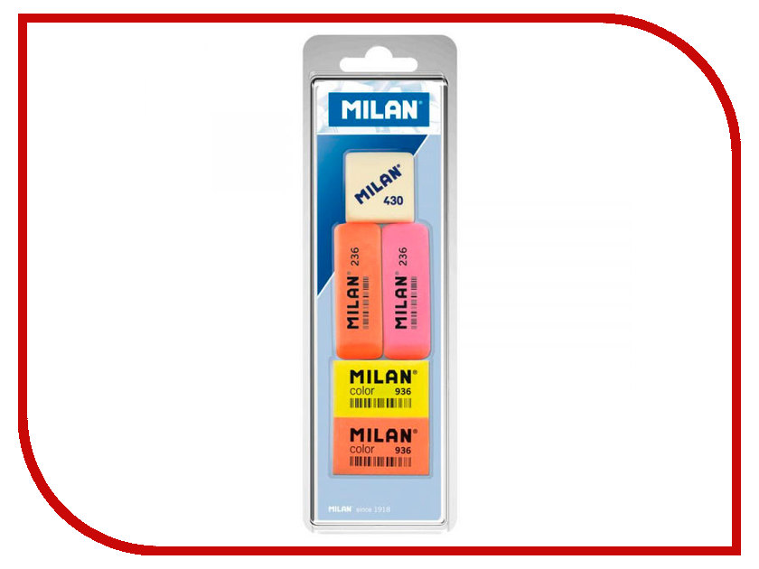 Набор ластиков Milan 5шт BVM97010 / 208117 top 10 milan