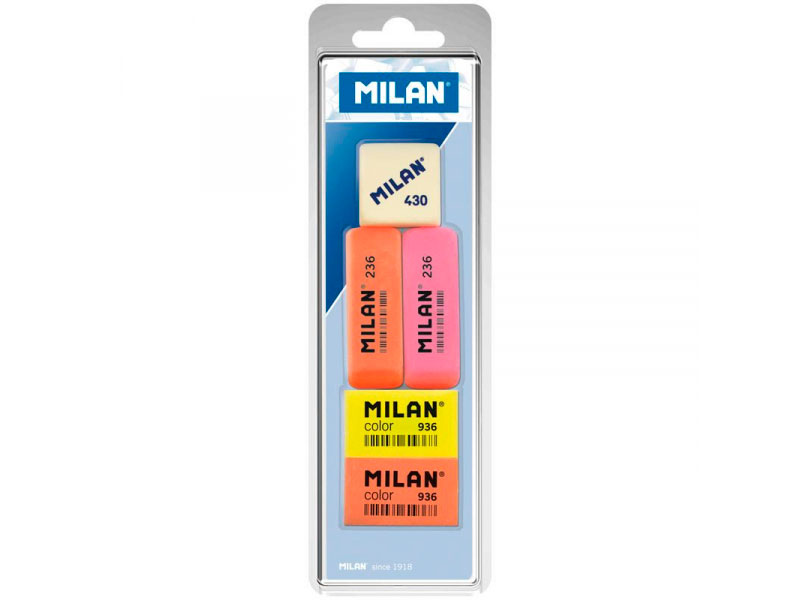Набор ластиков Milan 5шт BVM97010 / 208117