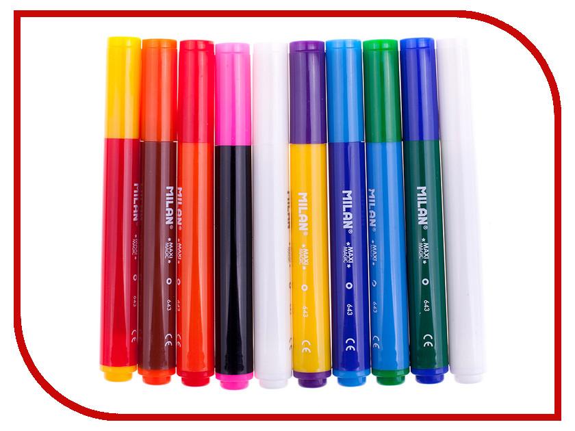 Фломастеры Milan Maxi Magic 643 8 цветов + 2 волшебных 80023 / 223129 inter milan spal
