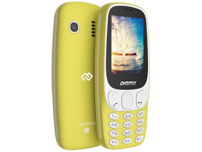 Сотовый телефон Digma Linx N331 Yellow сотовый