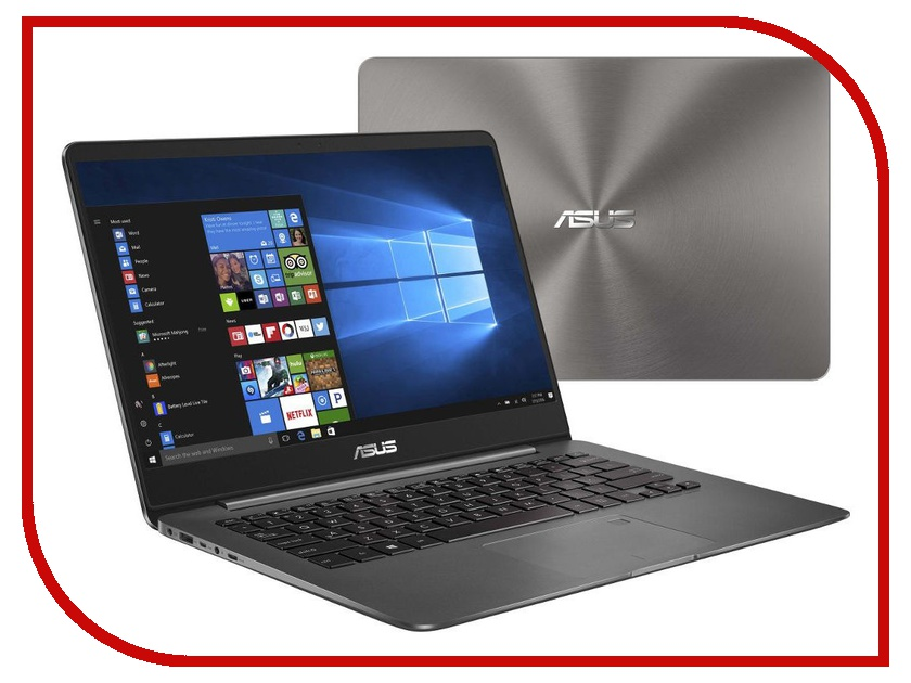 Ноутбук ASUS Zenbook UX430UA-GV340R 90NB0EC1-M12280 Grey-Sleeve (Intel Core i5-8250U 1.6 GHz/8192Mb/256Gb SSD/No ODD/Intel HD Graphics/Wi-Fi/Bluetooth/Cam/14.0/1920x1080/Windows 10 64-bit)