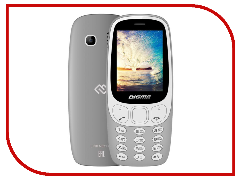 купить Сотовый телефон Digma Linx N331 Gray по цене 709 рублей