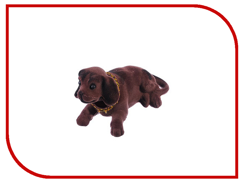 Купить 732-053, Собачка на приборную панель 13x8cm Dark Brown, Без производителя