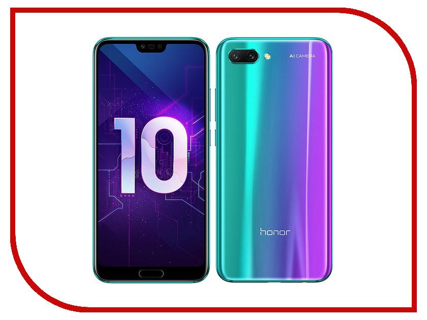 Сотовый телефон Huawei Honor 10 128Gb Green сотовый телефон huawei p smart 32gb dual sim gold