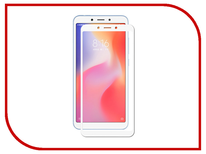Аксессуар Закаленное стекло для Xiaomi Redmi 6A / Redmi 6 DF Full Screen xiColor-34 White аксессуар закаленное стекло для xiaomi redmi 5 plus df full screen xicolor 23 white