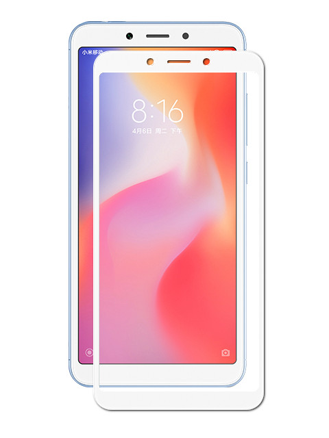 Закаленное стекло DF для Xiaomi Redmi 6A / 6 Full Screen xiColor-34 White
