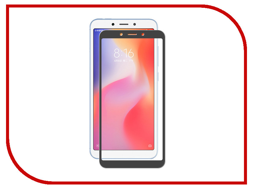 Аксессуар Закаленное стекло для Xiaomi Redmi 6A / Redmi 6 DF Full Screen xiColor-34 Black for lenovo zuk z2 lcd screen display with touch screen digitizer panel glass assembly black white replacement parts free shipping