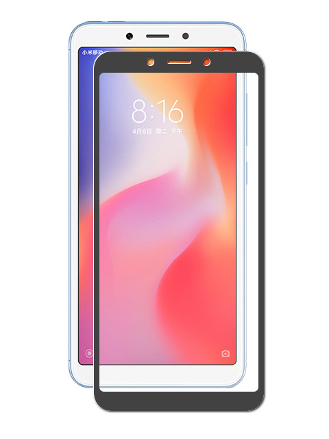 Аксессуар Закаленное стекло DF для Xiaomi Redmi 6A / Redmi 6 Full Screen xiColor-34 Black for lenovo zuk z2 lcd screen display with touch screen digitizer panel glass assembly black white replacement parts free shipping