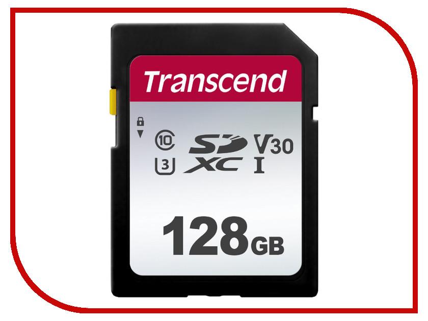 Картинка для Карта памяти 128Gb - Transcend SDC300S SDXC Class10 UHS-I U3/V30 TS128GSDC300S