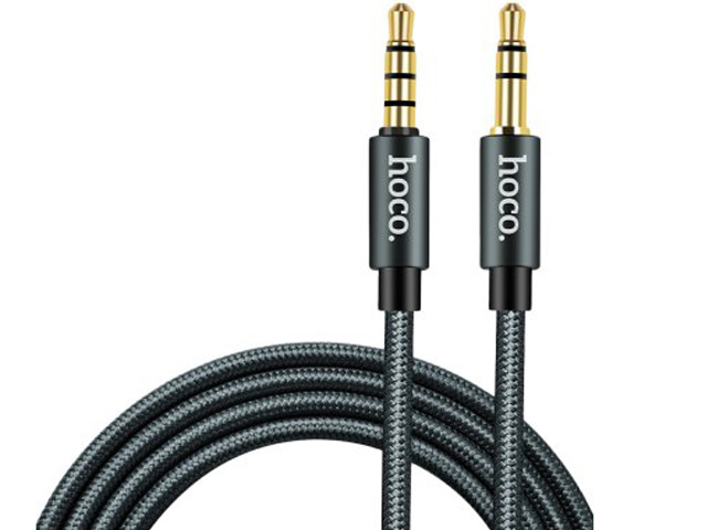 Фото - Аксессуар Hoco Noble Sound Series UPA03 3.5 Jack/M - 3.5 Jack/M Grey аксессуар hoco upa13 sound source lightning 3 5 audio cable black