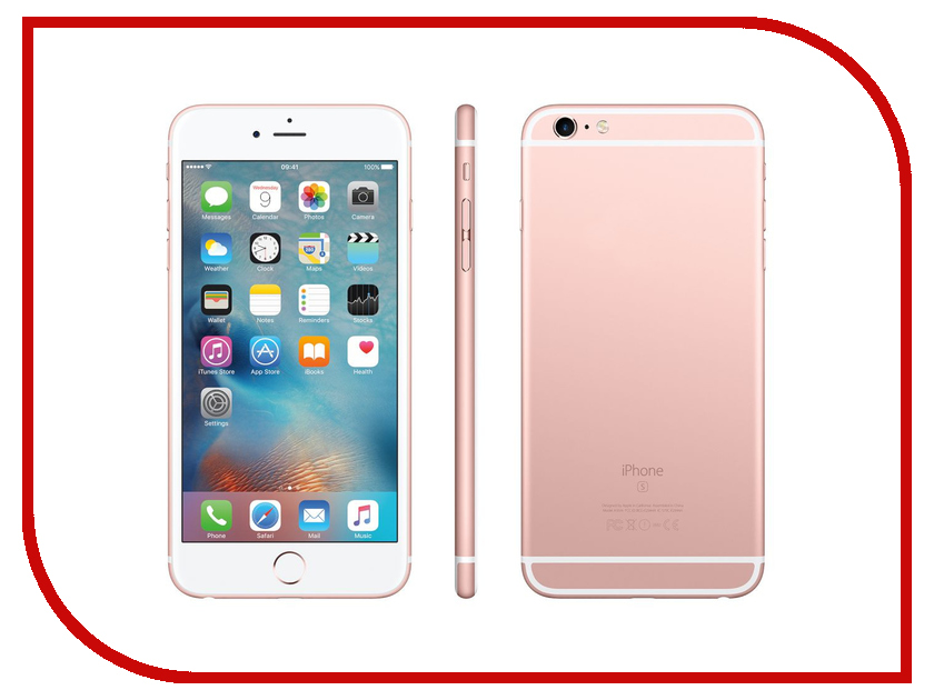 Сотовый телефон APPLE iPhone 6S Plus - 16Gb Rose Gold FKU52RU/A восстановленный apple apple iphone 6s plus 32gb gold