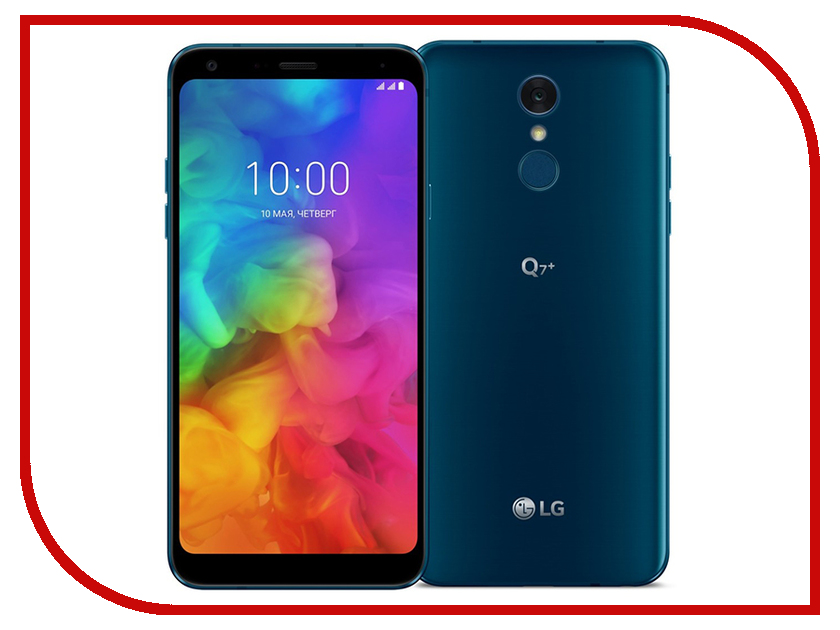 Сотовый телефон LG Q610NA Q7+ 64Gb Blue mooncase slim leather side flip wallet card slot pouch stand shell back чехол для lg f70 blue