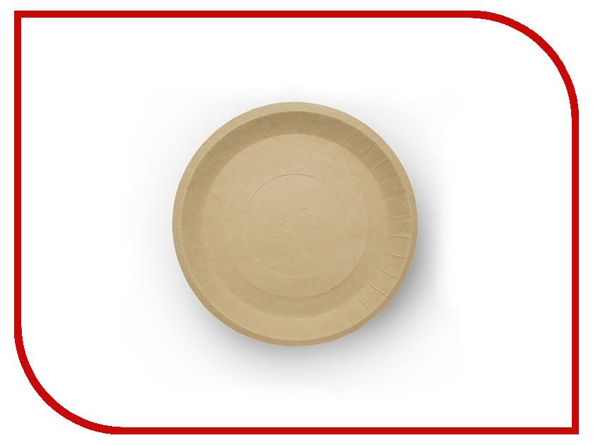 Одноразовые тарелки Ecovilka 180mm 100шт БТКК180Д одноразовые тарелки ecovilka 50шт dtkr190