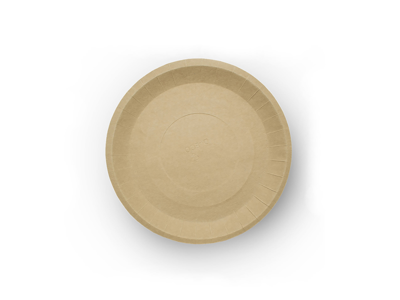 Одноразовые тарелки Ecovilka 180mm 100шт БТКК180Д