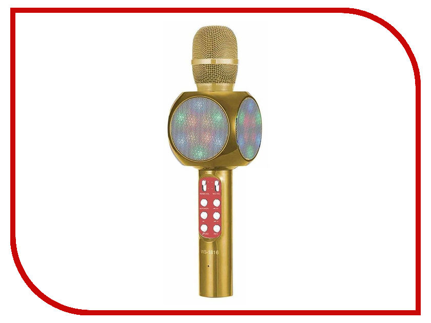 Караоке Handheld KTV WS-1816G Gold ws 481 1 часы русалка и дитя