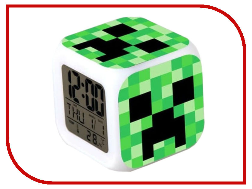 Часы Minecraft Creeper N03354 minecraft creeper backpack back to school back pack for teenagers all for school high quality zipper creeper book ba bagpack