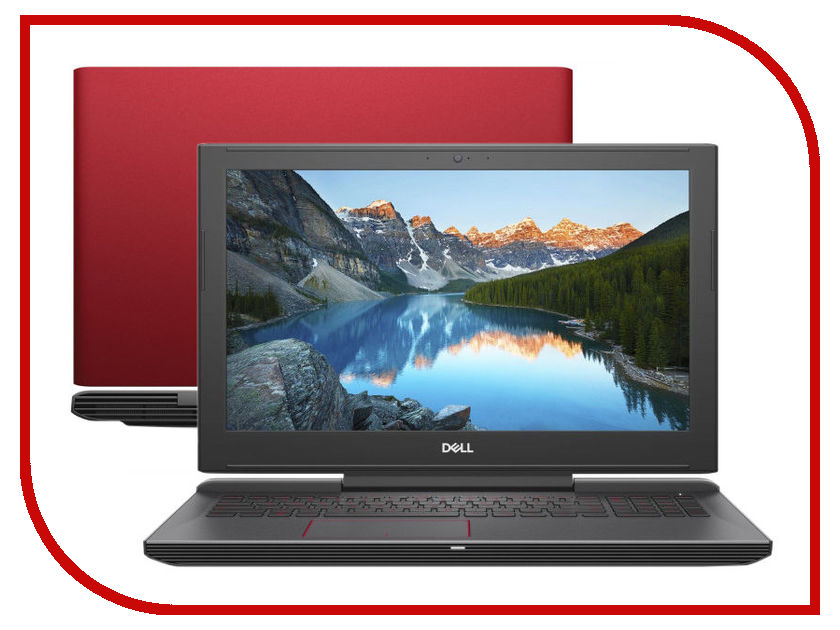 Ноутбук Dell G5-5587 G515-7329 Red (Intel Core i5-8300H 2.3 GHz/8192Mb/1000Gb + 8Gb SSD/nVidia GeForce GTX 1050 4096Mb/Wi-Fi/Bluetooth/Cam/15.6/1920x1080/Windows 10 64-bit)