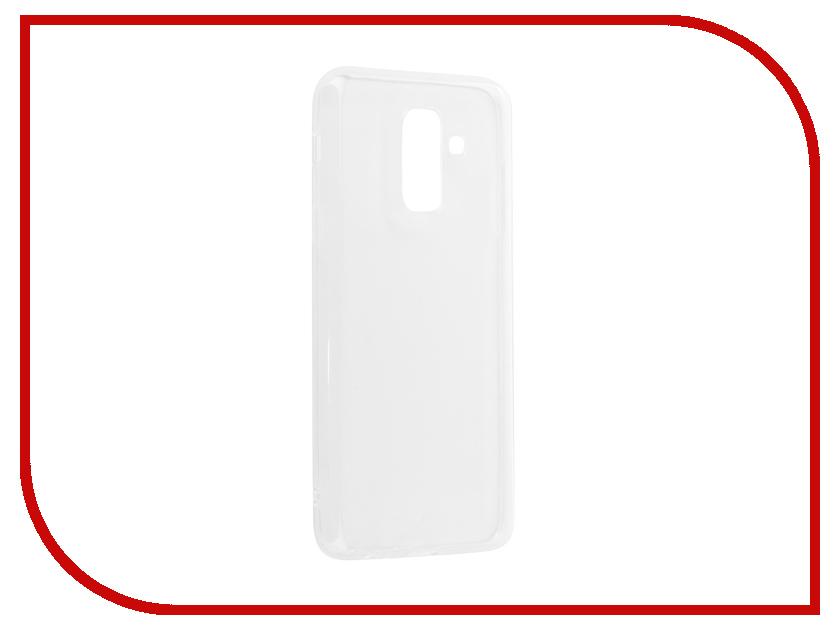 Аксессуар Чехол для Samsung Galaxy A6 Plus 2018 A605G Svekla Silicone Transparent SV-SGA605G-WH аксессуар чехол lg k8 2017 gecko transparent glossy white s g lgk8 2017 wh
