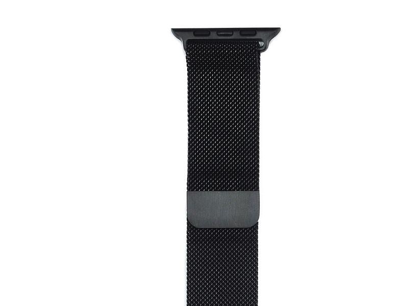 Аксессуар Ремешок Gurdini Milanese Loop для APPLE Watch 38mm Space Black 904824 genuine leather loop watchband for apple watch leather loop band with magnetic closure for iwatch milanese loop