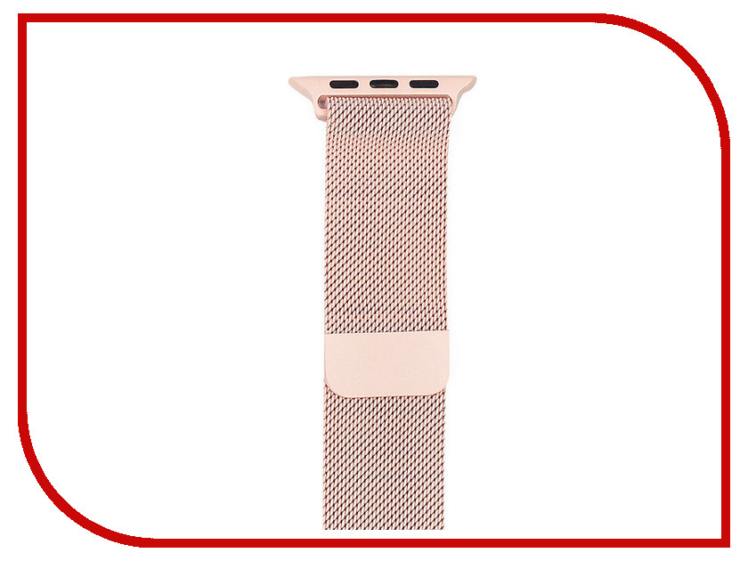 Аксессуар Ремешок Gurdini Milanese Loop для APPLE Watch 38mm Pink 906160 genuine leather loop watchband for apple watch leather loop band with magnetic closure for iwatch milanese loop