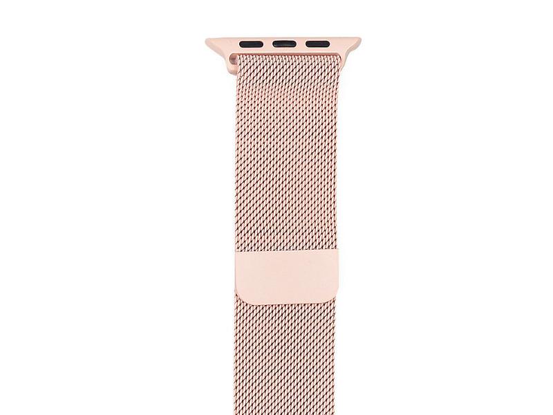 Аксессуар Ремешок Gurdini Milanese Loop для APPLE Watch 38mm Pink 906160