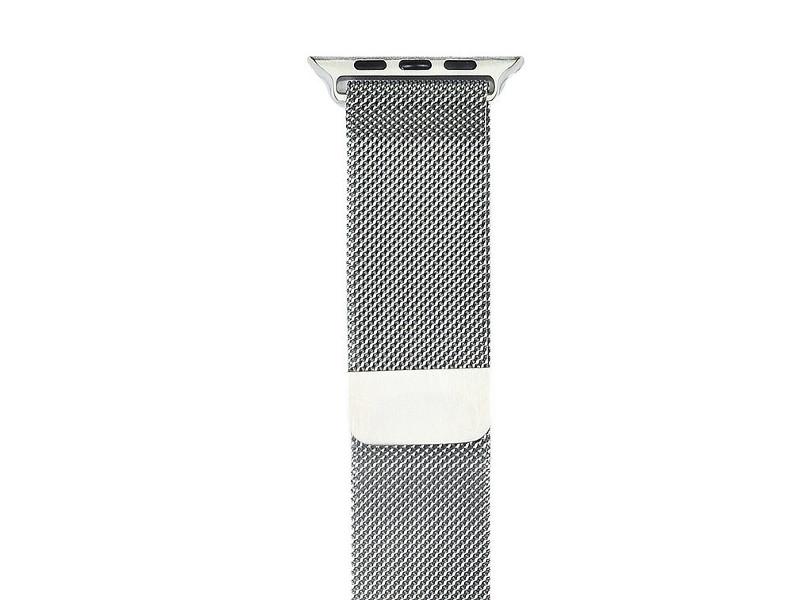 Аксессуар Ремешок Gurdini Milanese Loop для APPLE Watch 42mm Silver 904818 genuine leather loop watchband for apple watch leather loop band with magnetic closure for iwatch milanese loop