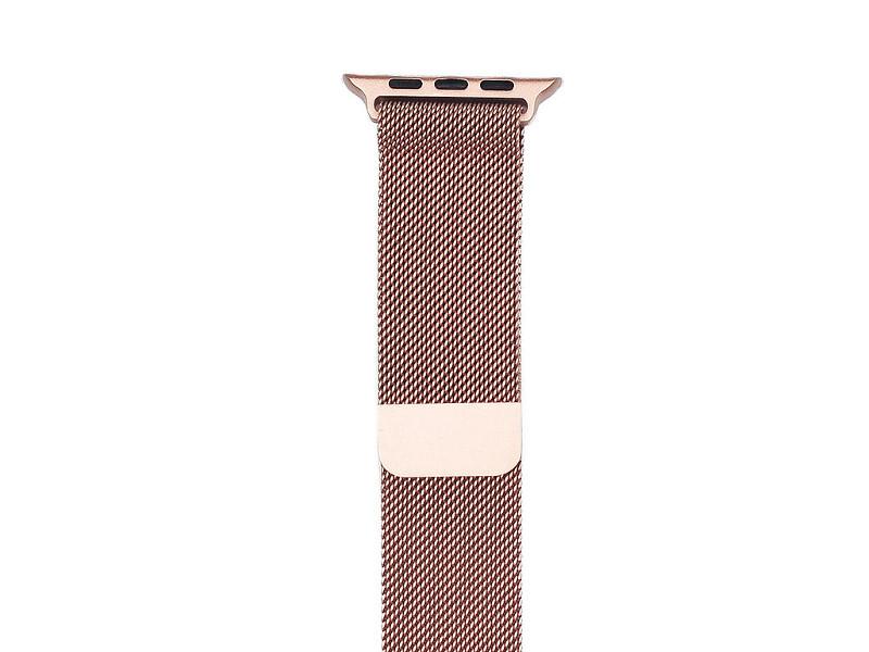 Аксессуар Ремешок Gurdini Milanese Loop для APPLE Watch 42mm Rose Gold 904820