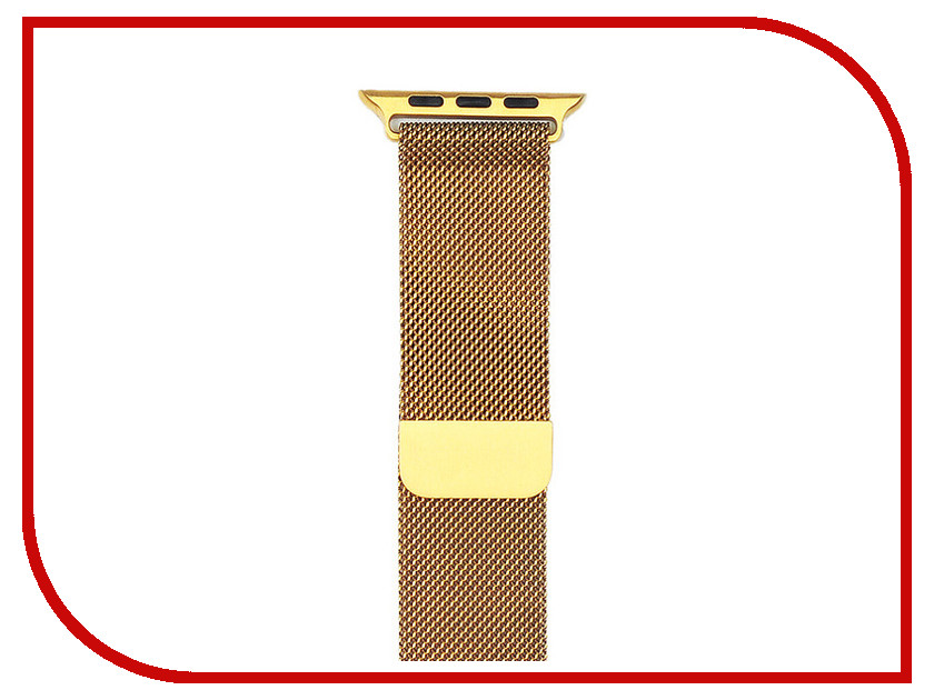 Аксессуар Ремешок Gurdini Milanese Loop для APPLE Watch 42mm Gold 904819 stainless steel 23mm milanese magnetic loop watch band wrist strap for fitbit blaze metal bracelet black silver rose gold i88