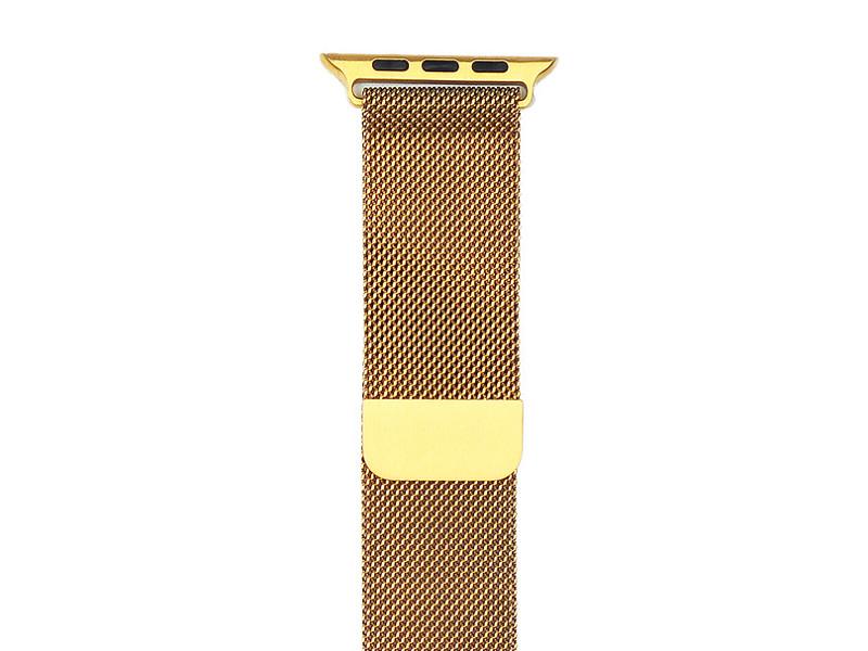 Аксессуар Ремешок Gurdini Milanese Loop для APPLE Watch 42mm Gold 904819