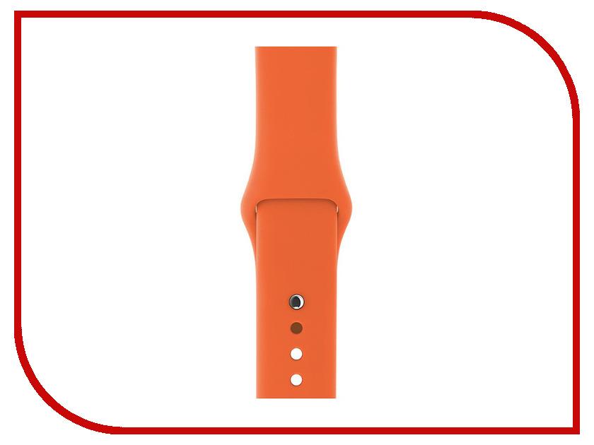 все цены на Аксессуар Ремешок Gurdini Sport Silicone для APPLE Watch 42mm Spicy Orange 906168 онлайн
