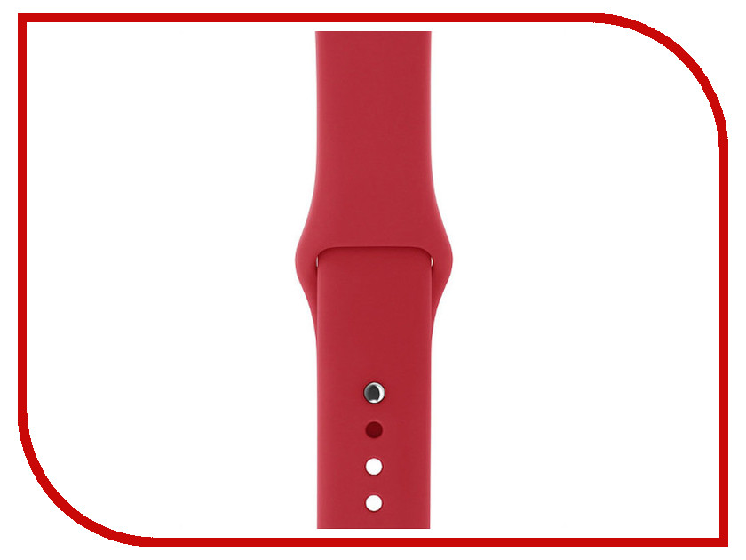 Аксессуар Ремешок Gurdini Sport Silicone для APPLE Watch 42mm Red 905022 concise dial silicone band red led digital wrist watch red 1 x cr2032