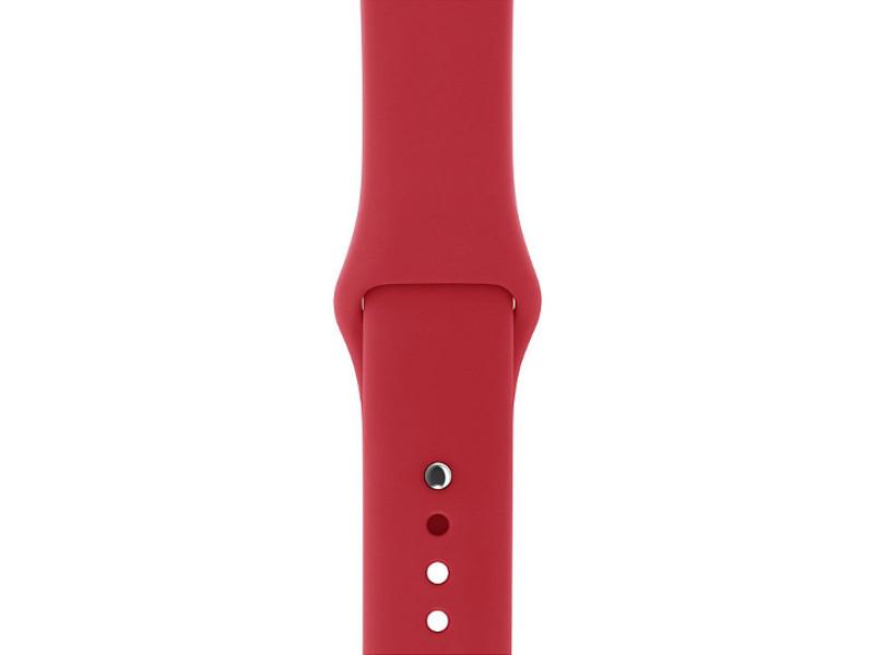 Аксессуар Ремешок Gurdini Sport Silicone для APPLE Watch 42mm Red 905022 megir quartz men sport watch big dials silicone strap army military watches clock men chronograph wristwatches relogio masculino