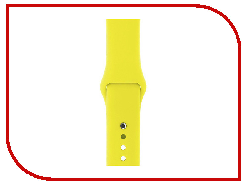 Аксессуар Ремешок Gurdini Sport Silicone для APPLE Watch 42mm Flash 906174