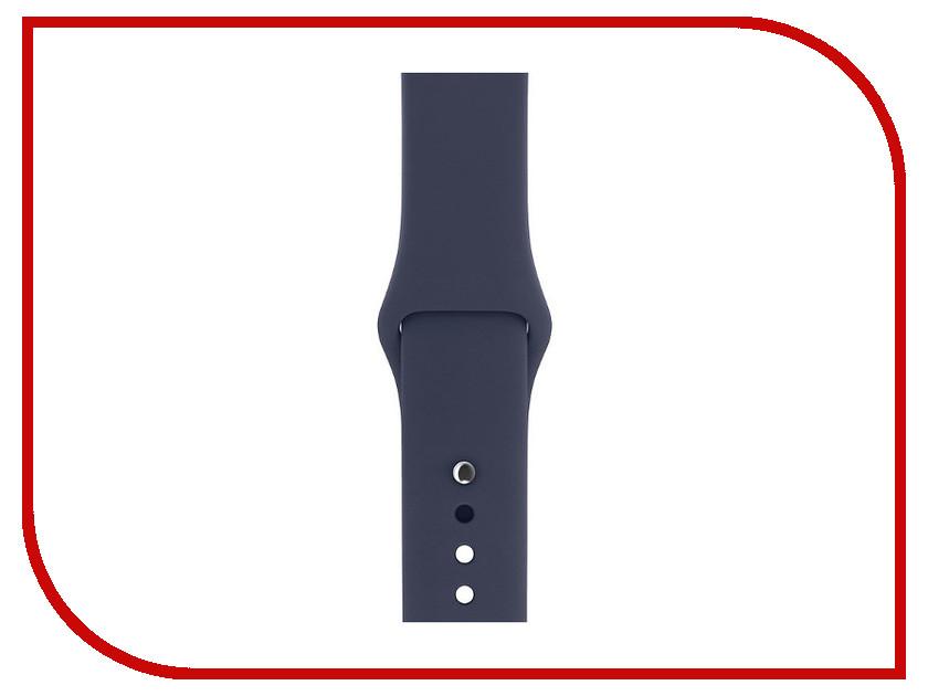 Аксессуар Ремешок Gurdini Sport Silicone для APPLE Watch 38mm Midnight Blue 905019