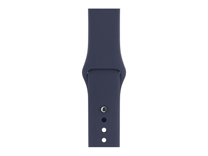 Аксессуар Ремешок Gurdini Sport Silicone для APPLE Watch 38mm Midnight Blue 905019 аксессуар ремешок apple watch 40mm sport band s m m l midnight blue mtph2zm a