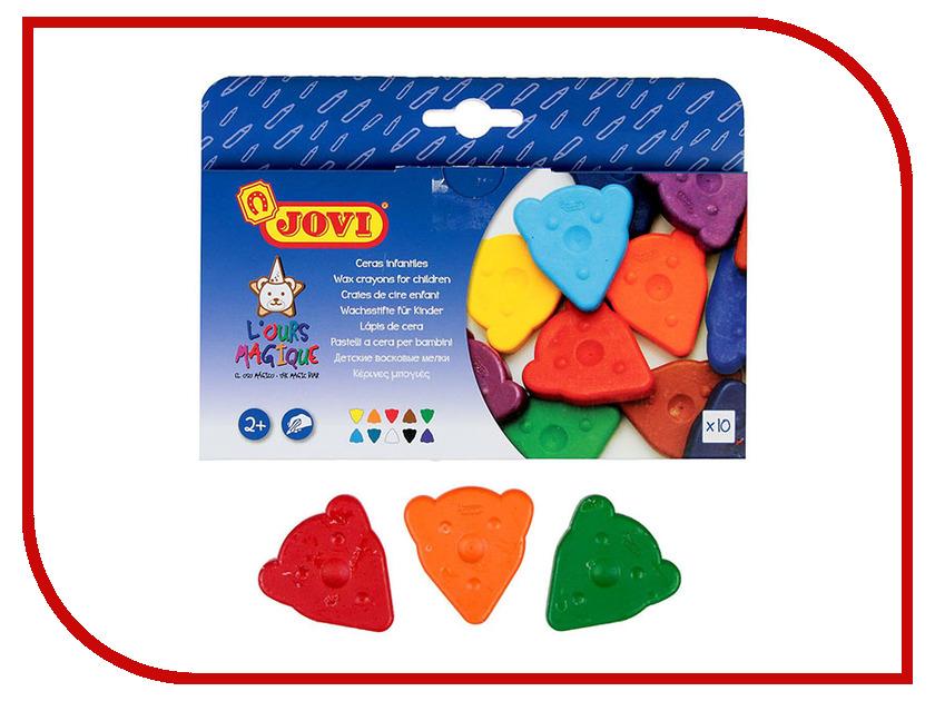 Восковые мелки JOVI 10 цветов 941 карандаши восковые мелки пастель jovi карандаши пластиковые круглые 12 цветов