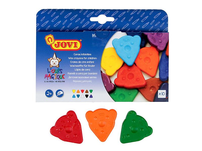 Восковые мелки JOVI 10 цветов 941 восковые мелки jovi треугольные 12 цв в коробке 973 12