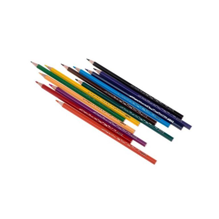 Карандаши цветные JOVI 12 цветов 730/12 карандаши jovi восковые с точилкой и ластиком 12 цветов