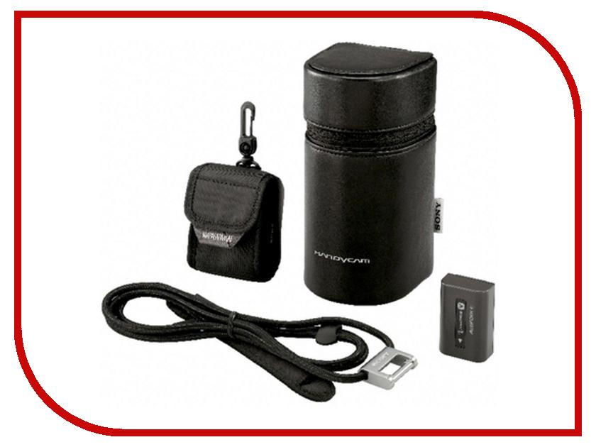 Сумка Sony ACC-EXV5 - набор футляр LCM-HAD, аккумулятор NP-FV50, наплечный ремень, футляр для аккумуляторов аккумулятор sony acc trw аккумулятор np fw50 зарядное устройство bc trw