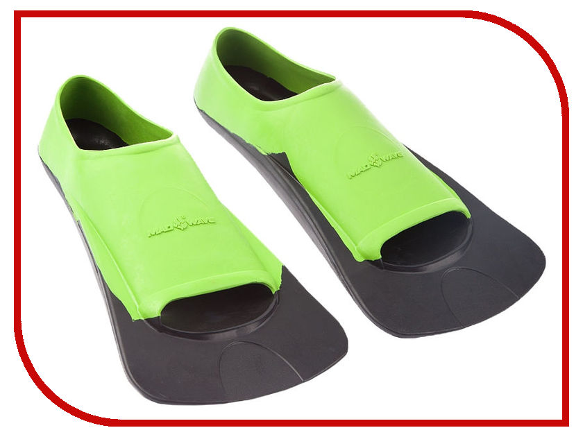 Ласты Mad Wave Fins Training II Rubber 42-44 Green-Black M0749 03 6 06W ласты mad wave training размер 43 44 blue m0747 10 7 04w