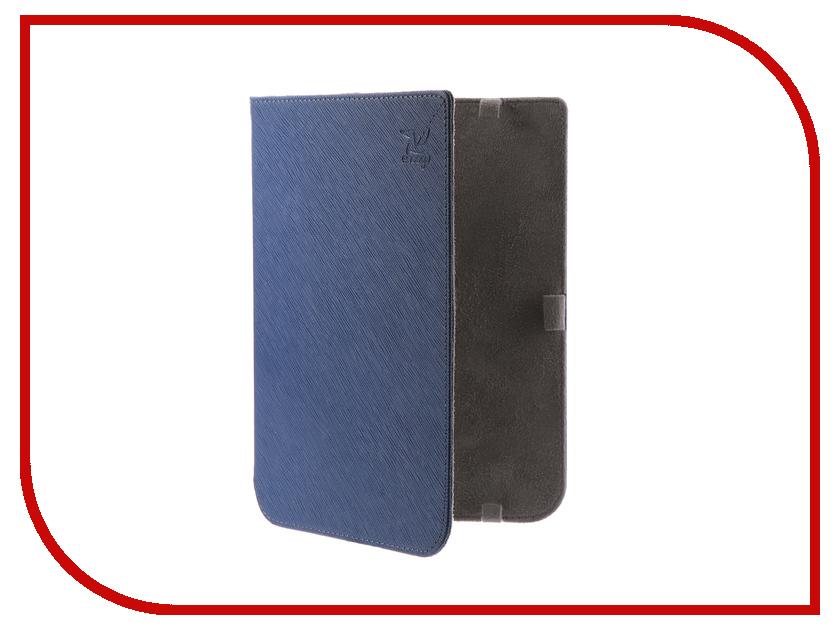 все цены на Аксессуар Чехол for PocketBook 740 Snoogy иск.кожа Blue