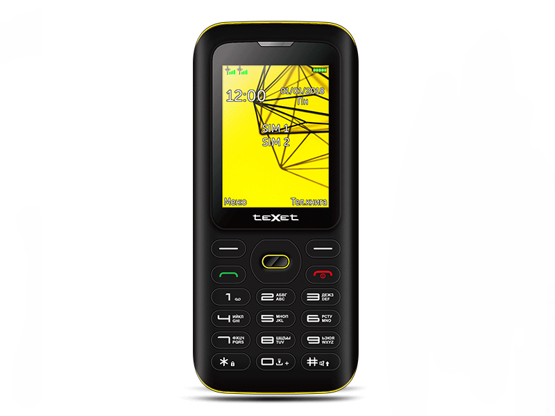 Сотовый телефон teXet TM-517R Black-Yellow texet tm d301 black silver