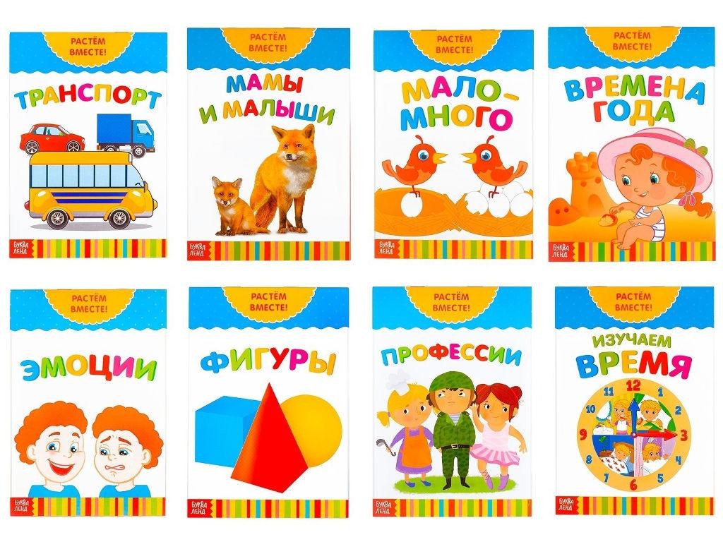 Пособие Книжка-игрушка Буква-ленд Растем вместе Набор 3524584