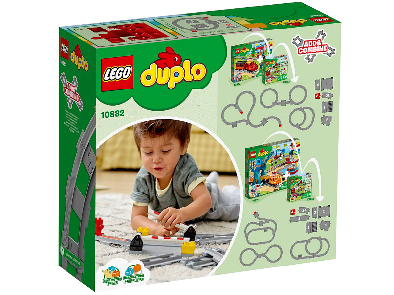 Конструктор Lego Duplo Рельсы и стрелки 10882 lego lego конструктор lego city trains 60205 рельсы