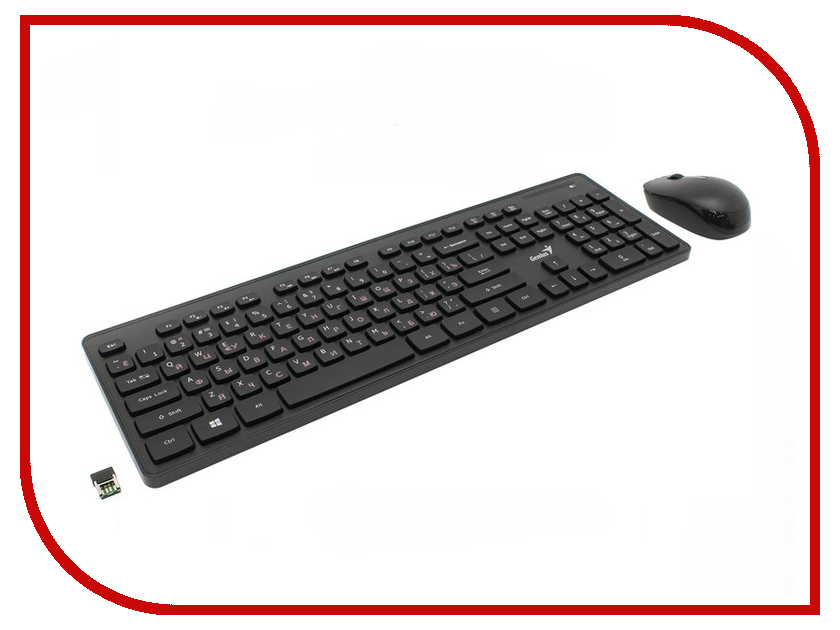 Набор Genius SlimStar 8006 Wireless Desktop Combo Black USB набор lenovo essential wireless combo black usb 4x30m39487