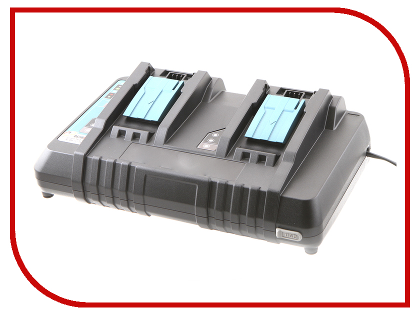 Комплект Makita Аккумулятор BL1860B Li-ion 18V 6Ah х4шт + ЗУ DC18RD + Кейс MakPac 198094-8 5000mah rechargeable lithium ion replacement power tool battery packs for makita 18v bl1830 bl1840 bl1850 lxt400 194205 3 p25